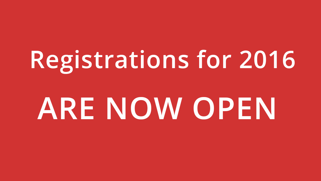 Registration for 2016