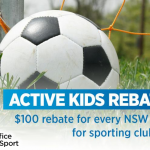 Active Kids Rebate is available