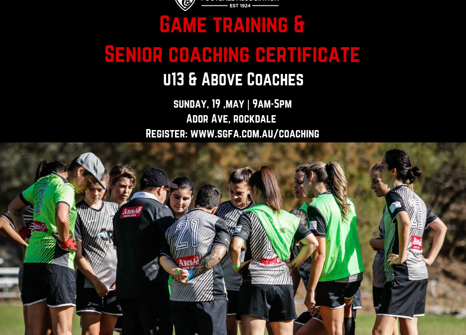 Coaching Course and Draw for the 18th May